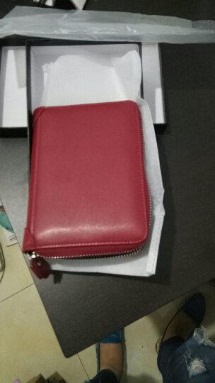 奥菲姆(OFLM)卡包女 牛皮40卡位名片卡夹卡片包男 拉链护照包驾驶证皮套卡套KB-40 酒红色 晒单图