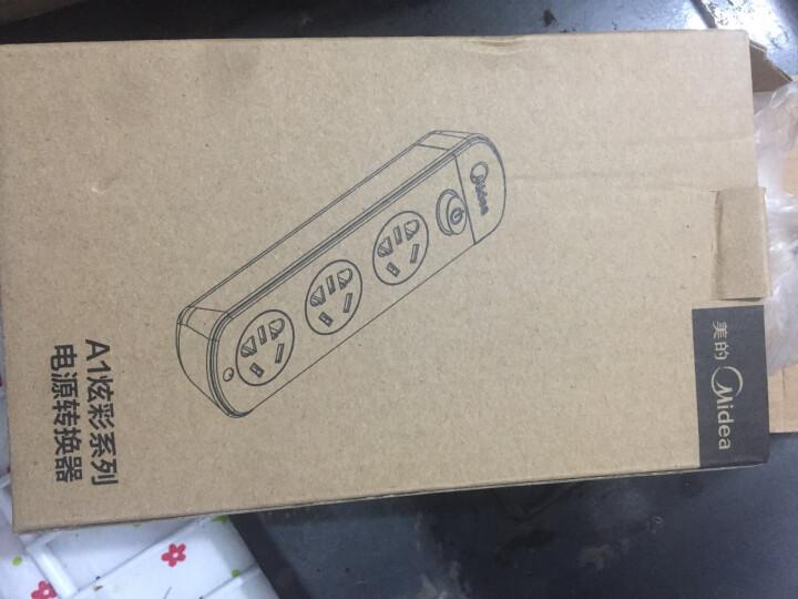 美的(Midea)A1C03L1.8-A3 插座插排插线板 1.8米三孔位总控 晒单图