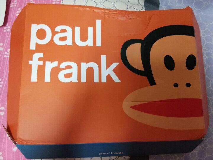Paul Frank大嘴猴女装美式印花系带长裤舒适女款束脚运动卫裤 A2深灰 M 晒单图