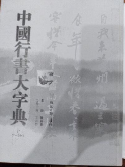 中国行书大字典(上下) 晒单图