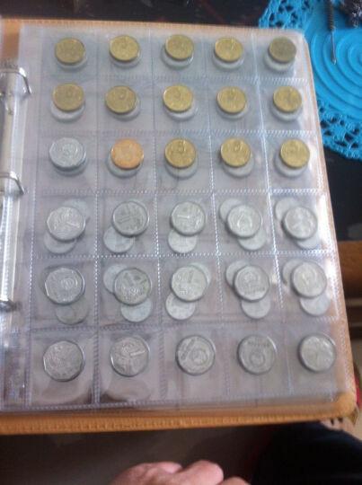 聚优尚 高档纸币硬币混装册 活页型钱币册集币册 高铁纪念币收藏册空册 60枚纸币352枚硬币册(9孔黑底纸币内页) 晒单图