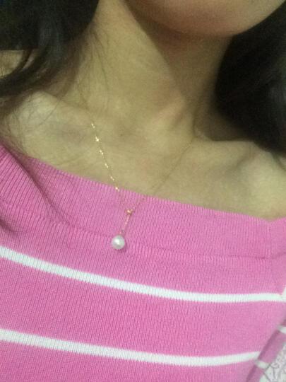 心纯静 18K金珍珠可调项链 女款时尚珍珠吊坠 18K金珍珠可调项链 晒单图