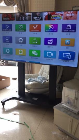 NB 液晶电视移动推车视频会议移动落地支架激光电视架显示器触摸屏一体机挂架(60-100英寸)黑色 晒单图
