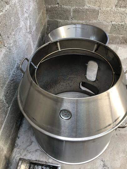 木炭烤鸭炉 不锈钢商用烧烤炉 双层保温烧鸭炉烧鹅炉 吊烧叉烧炉可观火木炭烧烤炉 80cm直径木炭 可观火 晒单图