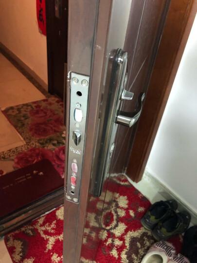 三星(SAMSUNG)指纹锁 智能家居家用防盗门密码磁卡锁 智能电子锁 SHS-P718 咖啡棕 外开 标配版 晒单图