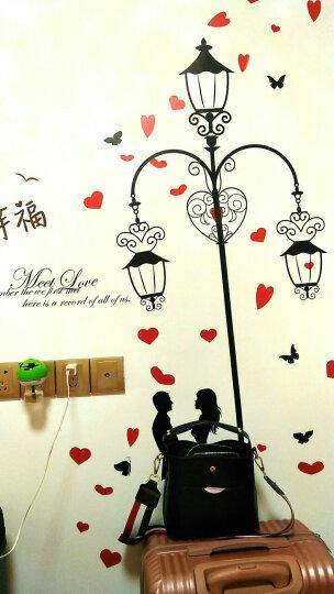 凡雅空间 七夕爱情自粘墙贴纸贴画婚房卧室温馨浪漫客厅沙发背景墙壁装饰情人节情侣爱心 17.灯下爱情+遇见幸福 特大号 晒单图