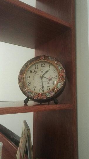 北极星 POLARIS 台钟欧式静音座钟客厅装饰挂钟田园实木摆钟创意卧室时钟挂表HD-6013木纹 晒单图