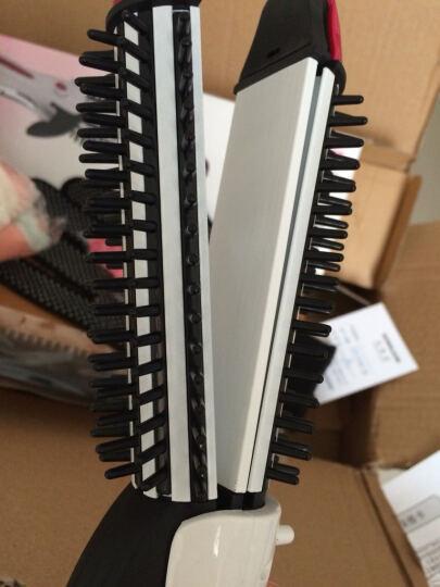 松俊 卷发棒直发器拉直夹板两用梳大卷大号 白色 晒单图