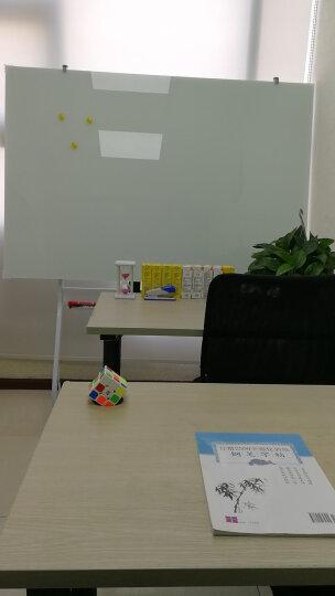 迪美瑞 钢化玻璃白板支架式磁性白板壁挂简易办公会议移动写字板 睿智型(200*100) 晒单图