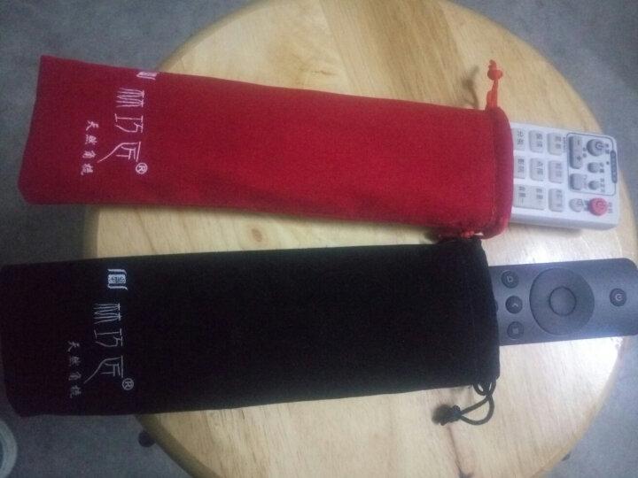 林巧匠 精致实用可收缩绒布袋 红色黑色两款可选 可装梳子刮痧板发簪手机镜子等 保护袋收纳袋 长绒布袋黑色红色随机发货 晒单图