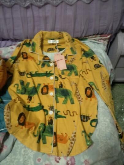 梦米诺秋季长袖女士纯棉睡衣可爱女宽松睡裙韩版长款家居服 6362 女士XL(170/92A) 晒单图