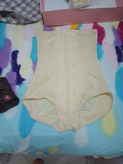 婷美塑身衣 高腰收腹提臀塑身裤 舒适薄款产后塑身下裤QD4013 肤色 76 晒单图
