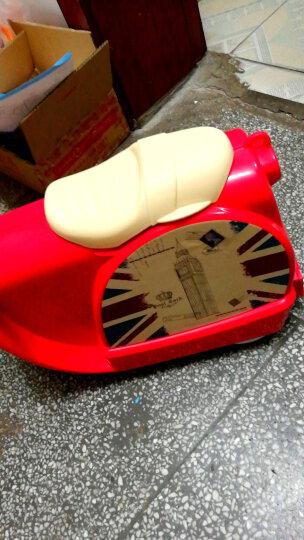 汉沽儿童摩托车行李箱 二合一旅行箱可骑可坐男女宝宝拉杆箱个性行李箱/收纳箱/拖拉箱万向轮 粉色 18英寸 晒单图