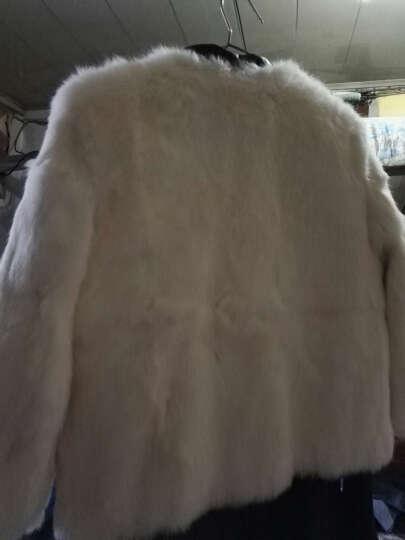 科伦普兔毛皮草外套女装短款2018冬季新款韩版圆领七分袖海宁整皮皮草毛毛大衣反季清仓 白色 XL 晒单图