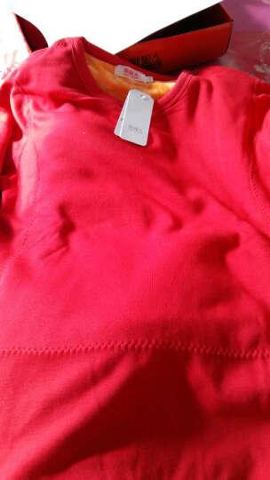 南极人保暖内衣男女加绒加厚圆领时尚黄金绒套装新款本命年中老年秋冬秋衣秋裤打底衫 新款黄金绒女士紫色 XXL 晒单图