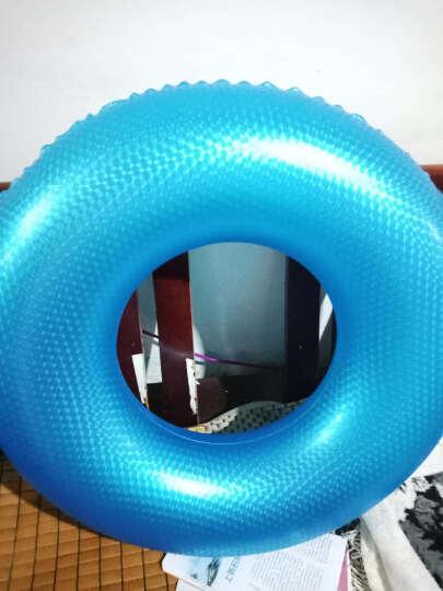 KASITE 游泳圈 成人加厚男女充气大人救生圈 加大儿童腋下圈90泳圈 蓝色KY-03 晒单图