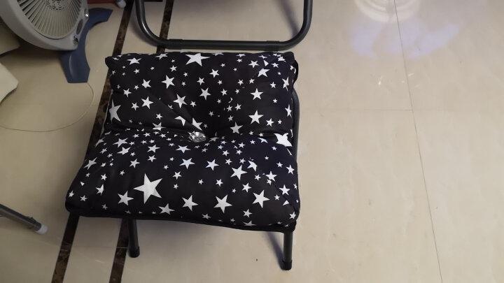 蒂利仕 豪华单人懒人沙发折叠椅子躺椅午休午睡椅办公室床休闲椅靠背椅子靠椅躺椅桌椅 加高印花沙发椅  红色大花  2件套 晒单图