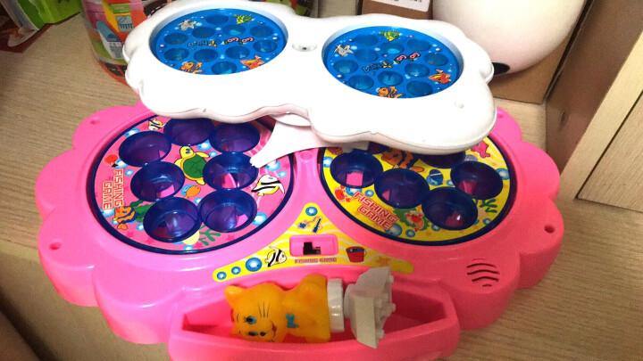 贝恩施(beiens)益智玩具 电动大号双层旋转小猫儿童钓鱼玩具352粉 晒单图