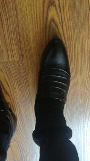 蒂雅尼奥2016新款韩版正装鞋 男士休闲皮鞋商务休闲鞋尖头内增高皮鞋潮男棉鞋288 黑色内增高 43 晒单图