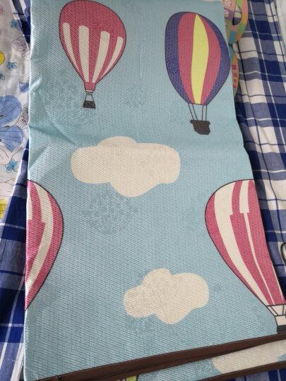 雅鹿防水凉席软空调冰丝席单人学生宿舍1.5床1.8m夏季可折叠席子 热气球 150*195cm含枕套2个 晒单图