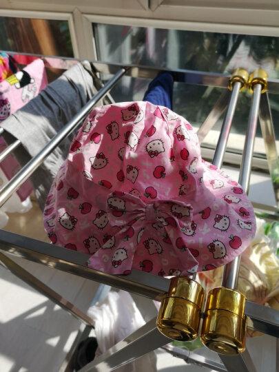 凯蒂猫(HELLO KITTY)儿童花边凉帽女童春夏季遮阳帽太阳帽盆帽 KT4066粉红色 52cm 晒单图