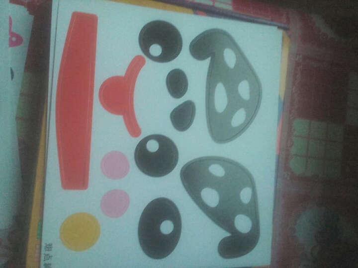 芙蓉天使彩色纸盘画动物手工制作材料儿童益智手工粘贴类贴纸玩具3款可选 神奇魔幻艺术画 晒单图