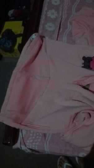 叶娇儿 孕妇套装 春夏装 孕妇时尚连帽卫衣运动休闲套装 河马粉色加绒款B45M XL 晒单图