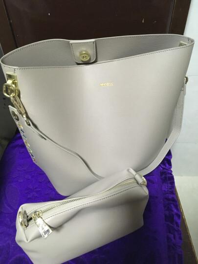 纽芝兰(NUCELLE)包包女包子母包时尚单肩包韩版斜挎包包大容量购物袋 193泥杏色 晒单图