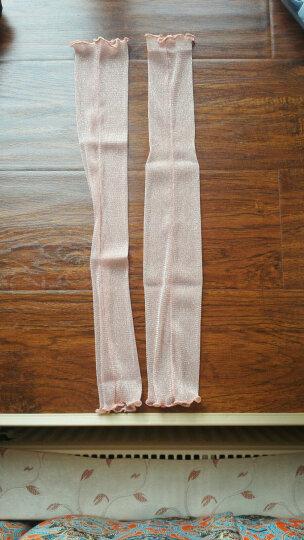 汤米伍德 新款防晒袖套夏季开车冰袖子薄网纱袜遮阳脚套两用冰丝手套蕾丝金银丝 裸粉 晒单图