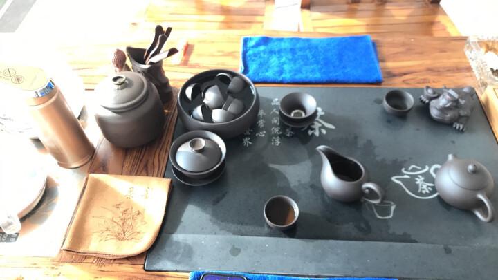 鸿冠(HONGGUAN) 紫砂功夫茶具套装整套家用茶道原矿手工紫砂壶茶杯盖碗办公送礼 款一 20头红色紫砂茶具大全 晒单图
