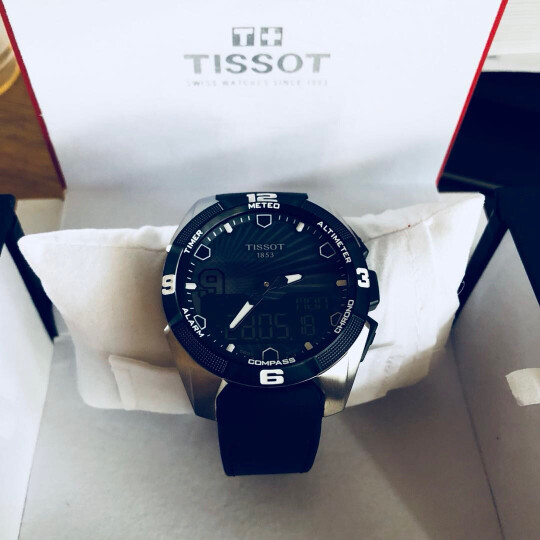 TISSOT 天梭T-TOUCH系列太阳能运动男士触控功能腕表明星同款 T091.420.46.051.00(黑色表盘) 晒单图