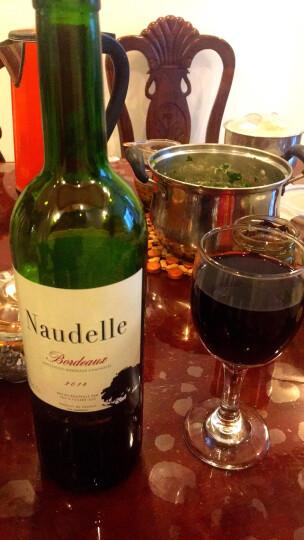 法国进口红酒 波尔多AOC纳德乐(Naudelle)干红葡萄酒 整箱装 750ml*6瓶 晒单图