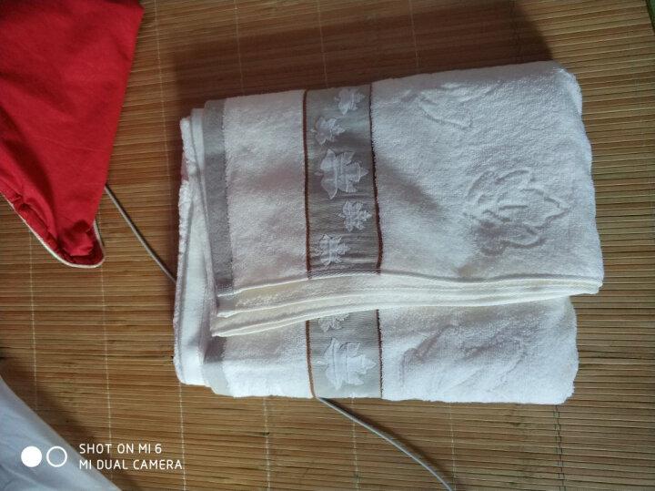 三利 精梳棉纱布网织浴巾 72×140cm AB版潮款 柔软裹身抹胸洗澡巾 浓粉色 晒单图