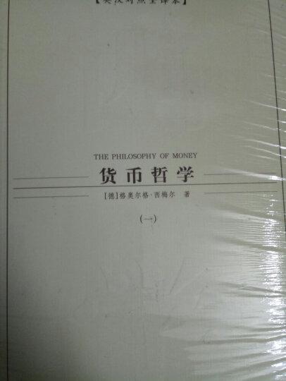 西方学术经典译丛:货币哲学(全3册)(英汉对照全译本) 晒单图