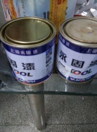 小桶油漆防锈漆 栏杆 铁门调和漆 金属漆黑漆铁红防锈漆 600克银粉漆 0-1L 晒单图