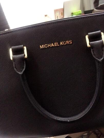 Michael Kors迈克科尔斯mk女包手提单肩斜挎包 黑色金五金 30S3GLMS2L 晒单图