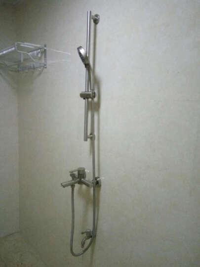 雅图诗 浴缸花洒龙头 不锈钢淋浴套装三联混水阀冷热 龙头+升降杆套装 晒单图