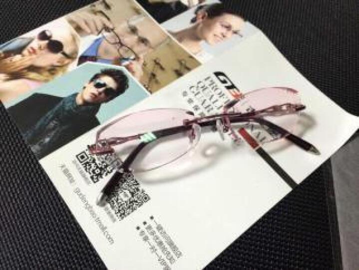 古登堡 眼镜 近视眼镜女 眼镜架 眼镜框 无框眼镜 进口MR镜片 潮流 WH101定制 镜架(紫色) +1.61渐进紫(配0-400度) 晒单图