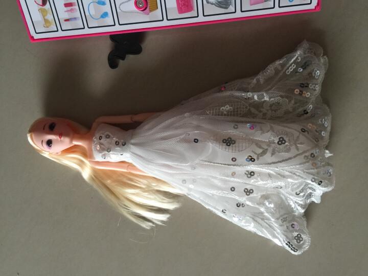 唯米 儿童芭比娃娃公主婚纱大礼盒洋娃娃女孩美人鱼套装玩具生日礼物 升级款B 晒单图