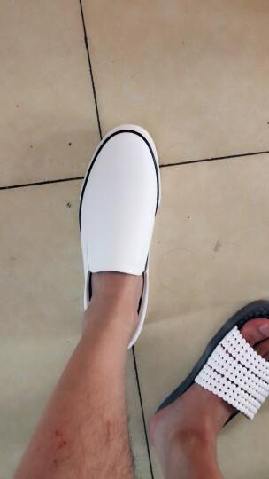 热风休闲鞋男男士简约套脚乐福鞋百搭休闲运动鞋H14M7505 04白色 44偏大一码 晒单图
