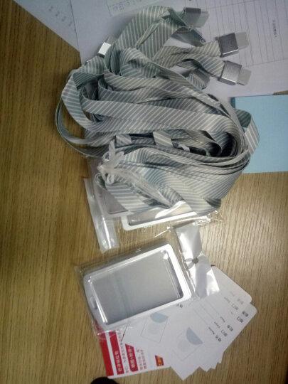 车与路(AutoRoad) 铝合金工作牌卡套工作证工牌卡套挂绳厂牌胸牌卡套证件套定制 H62黑+夹扣 晒单图