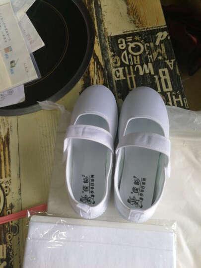 素肌棉 儿童帆布鞋女童板鞋学生白色舞蹈鞋女孩儿童布鞋儿童小白鞋青少年学校童鞋 1976 32(鞋垫长约20.5cm) 晒单图