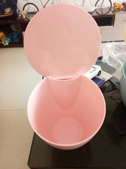 家杰 创意桌面垃圾桶套装 迷你带盖小号垃圾筒家用客厅卧室桌上收纳桶 3只装 JJ-GB104 晒单图