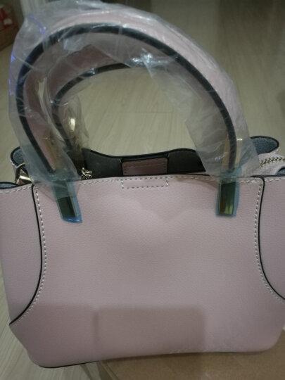 DOODOO包包2018年新款女包 时尚大容量百搭手提包韩版真皮单肩包休闲女士斜挎包 粉色8003 晒单图