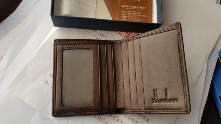 佐尔丹妮钱包男士短款学生超薄韩版迷你小钱夹真皮多卡位竖款卡包 A185平纹皮咖啡色 晒单图