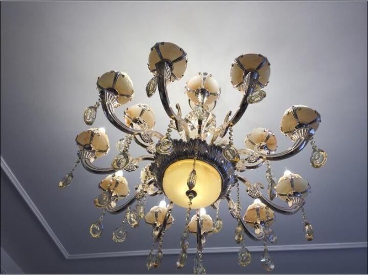 雷派克奢华欧式玉石吊灯餐厅客厅图纸卧室锌组装机器人水晶图片
