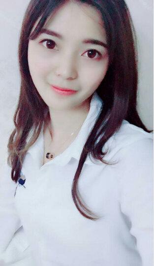 法蔻(farcoko) 轻奢品牌项链男女款情侣LOVE钛钢弹簧陶瓷锁骨链韩国时尚镀彩金 经典黑 晒单图
