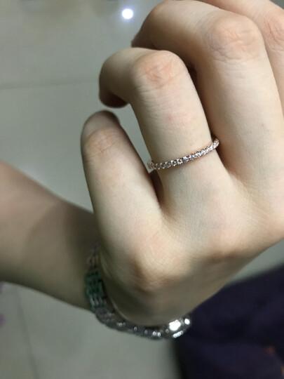 周大福 小心意系列 优雅闪耀 18K金镶钻石戒指/钻戒 U131379 13号 3600元 晒单图