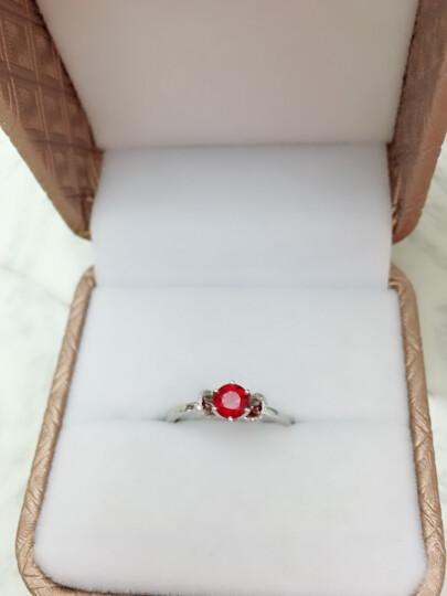 多米丽(DUOMILI) 多米丽珠宝泰国红宝石蓝宝石裸石18K金红宝石戒指女镶钻彩宝定制 0.5克拉 7个工作日定制 晒单图