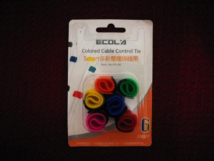 宜客莱(ECOLA)绑线带PQ-06 Smart多彩整理收纳线 (六根装) 多彩整理绑线带 (6根)PQ-06 晒单图